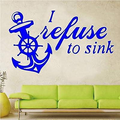Barco ancla DIY pegatina impermeable vinilo papel tapiz decoración ...