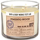 Bath and Body Works White Barn Pimento Wood Test Lab Candle 14.5oz 3 Wick No. 017 Made With Essential Oils