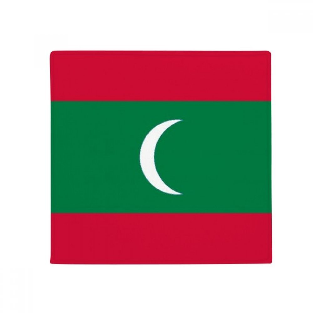 DIYthinker Maldives National Flag Asia Country Anti-Slip Floor Pet Mat Square Home Kitchen Door 80Cm Gift