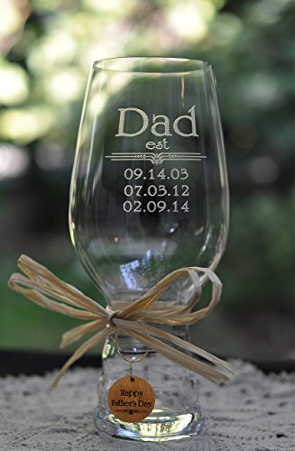 Dad IPA Beer Glass Crystal with est and ()