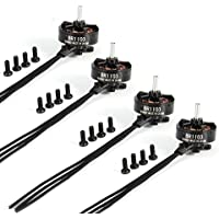 USAQ Set of 4pcs BR1103 8000kV Brushless Motor for 50, 80, 100mm Micro Drones