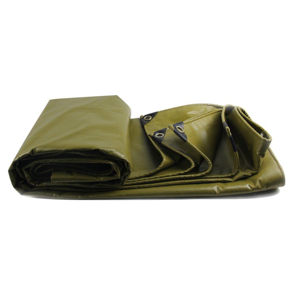 Persenning HUO Verdicken Sie Plane, Dauerhaften Schuppen-Stoff, Wasserdichtes Anti-UV-Leinwandlinoleum, 530g   M2 (Farbe   Armeegrün, größe   2  4m)