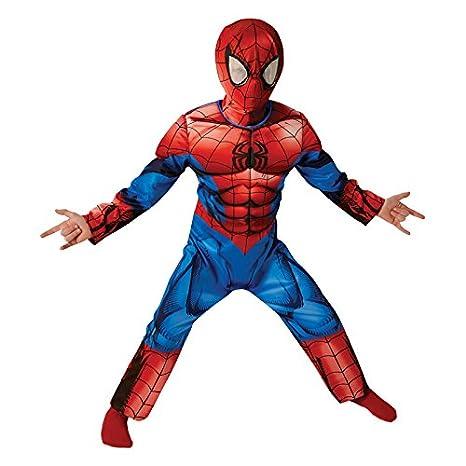 Spider-Man Deluxe último Clásico - Traje de Niño - Pequeños - 104 cm - Edad 3-4: Amazon.es: Juguetes y juegos