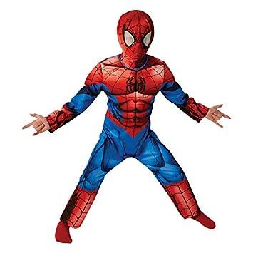 Marvel Spider-Man Deluxe último Clásico - Traje de Niño - Pequeños - 104 cm - Edad 3-4