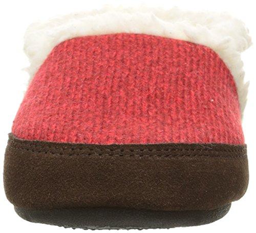 Eikel Vrouwen Moc Ragg Slipper Rode Ragg Wol