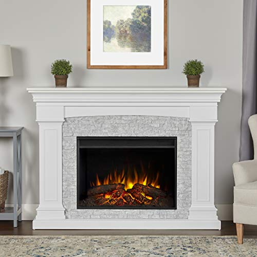 Cheap Real Flame Deland Grand Electric Fireplace White Black Friday & Cyber Monday 2019