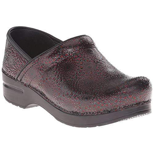Dansko Professional Women Mules & Clogs Shoes, WineMedallionPatent, Size - 37 - Lodge Red Leather