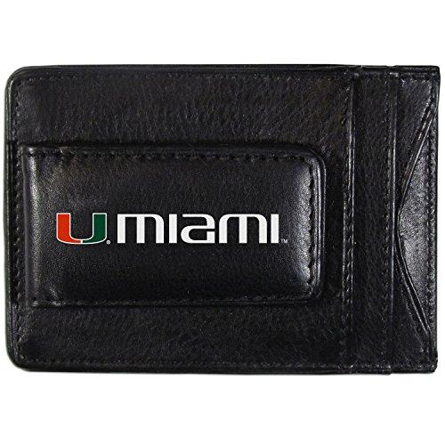 - Siskiyou NCAA Miami Hurricanes Logo Leather Cash and Cardholder, Black