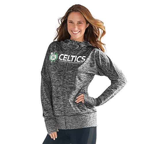 NBA Boston Celtics Women's Receiver Hoody, XX-Large, Heather Grey by GIII For Her