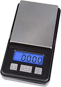 Fuzion Digital Scale, High Precision Digital Pocket Scale, Ultra Mini Design, 1000g/ 0.1g (Battery Included)