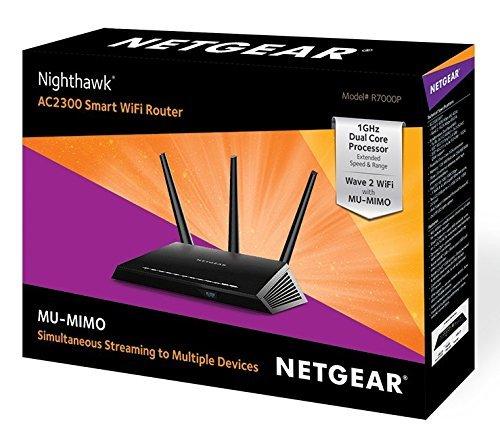 Netgear Nighthwak R7000P-100PES - Router WiFi Inteligente (2300 Mbit/s, tecnología MU-MIMO, Dual Band, Gigabit, 11ac Dual Band, AC2300 Nighthawk Router),...