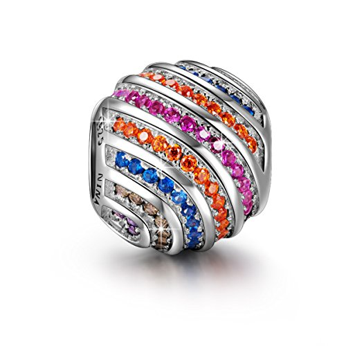 Rainbow-925-Sterling-Silver-Multicolor-Cubic-Zirconia-Gemstones-Charms-Fit-Pandora-Bracelet