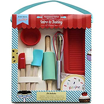 Handstand Kitchen 17-piece Introduction to Real Baking Set for Kids