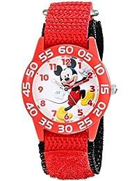 Kids' W001654 Mickey Mouse Analog Display Analog Quartz Red Watch