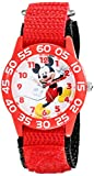 Disney Kids' W001654 Mickey Mouse Analog Display Analog Quartz Red Watch