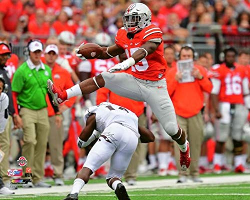 (Ezekiel Elliott Ohio State Buckeyes NCAA Action Photo (Size: 8