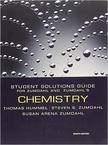 Chemistry Student Solutions Guide for Zumdahl & Zumdahl