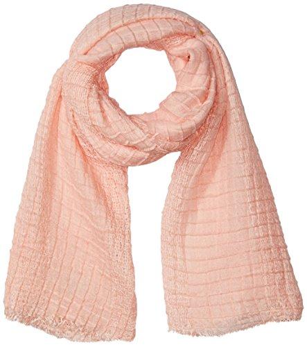 D&y Women's Solid Yarn Dye Waffle Crinkle Oblong Scarf, Pink, One Size Pink Yarn Dye