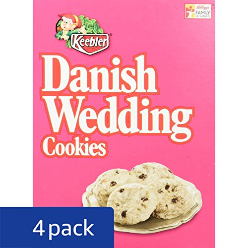 Danish Wedding Cookies.Keebler Danish Wedding Cookies 12 Ounce Boxes Pack Of 4 Import
