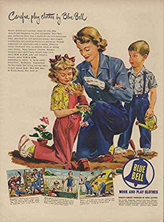 4d0669c16 Amazon.com: Carefree play clothes by Blue Bell ad 1949 mother & kids ...