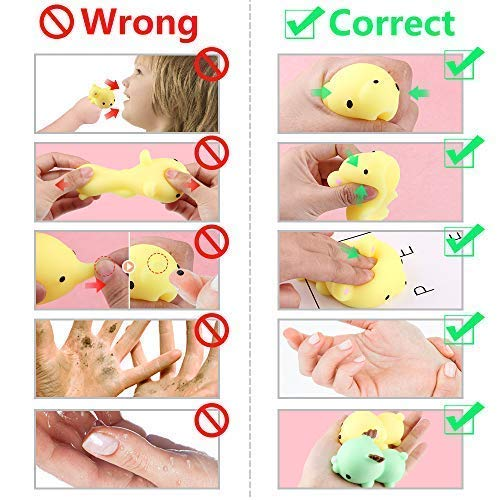 Satkago 3rd Generation Squishys Toys, 12pcs Big Upgrade Size Mochi Kawaii Squeeze Cartoon Animal Toys for Kids Adults Stress Relieve Pressure Release Anxiety Toy by Satkago (Image #6)