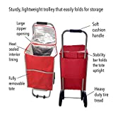 Thermal Trolley cooler - Cooler Shopping Cart - RED