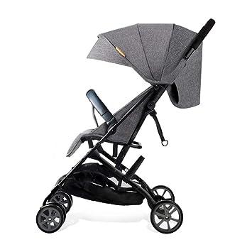 Carrito de bebé Sillitas de bebé ligeras con respaldo reclinable Toldo de 4 velocidades Reposabrazos desmontables