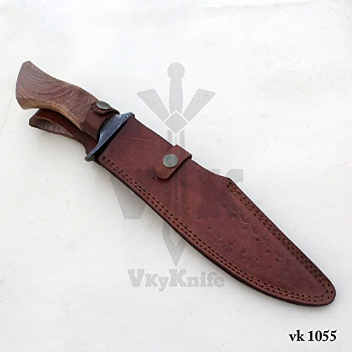 Handmade Damascus Steel Hunting Bowie Knife with Leather Sheath outdoor camping 15.50 Inches vk1055 by JNR TRADERS (Image #6)