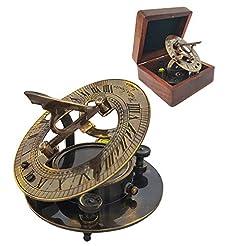 Brass Compass - Antique Brass Sundial Co...