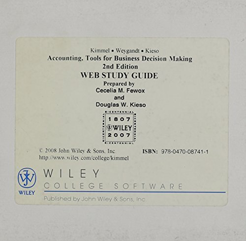 Online Study Guide Registration Card to accompany Accounting (v. 1)
