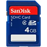 SanDisk 4GB Class 4 SDHC Flash Memory Card- SDSDB-004G-B35 (Label May Change)