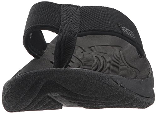 KEEN Mens Kona Flip-M Flat Sandal, Black/Steel Grey, 8 M US