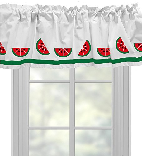 Watermelon Window Valance Window Treatment – In Your Choice of Colors – Custom Made