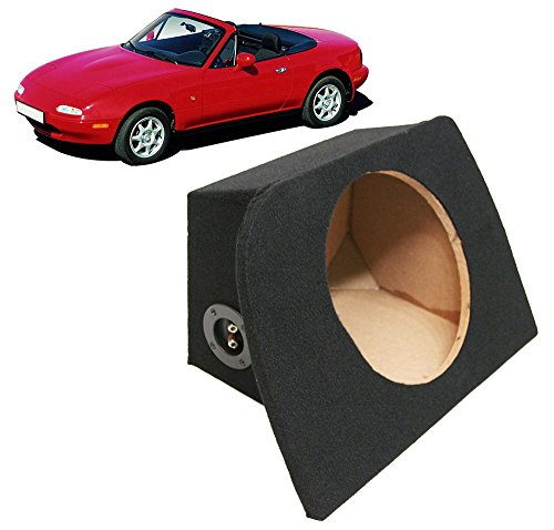 Fits 1990-2005 Mazda MX-5 Miata Custom Fit Single 10'' Subwoofer Enclosure Sealed Sub Box by American Sound Connection