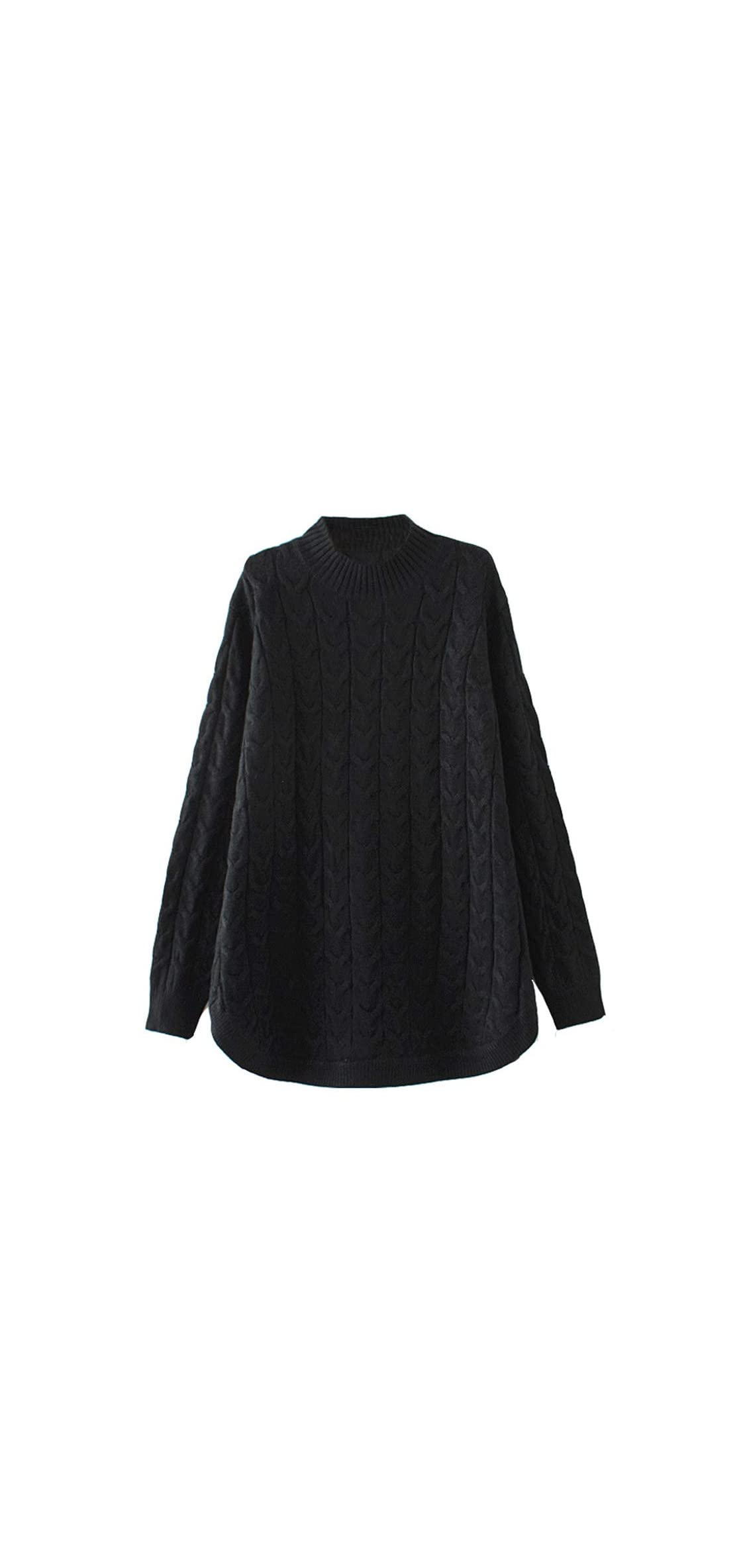 Women's Long Sleeve Sweater Mock Turtleneck Pullover