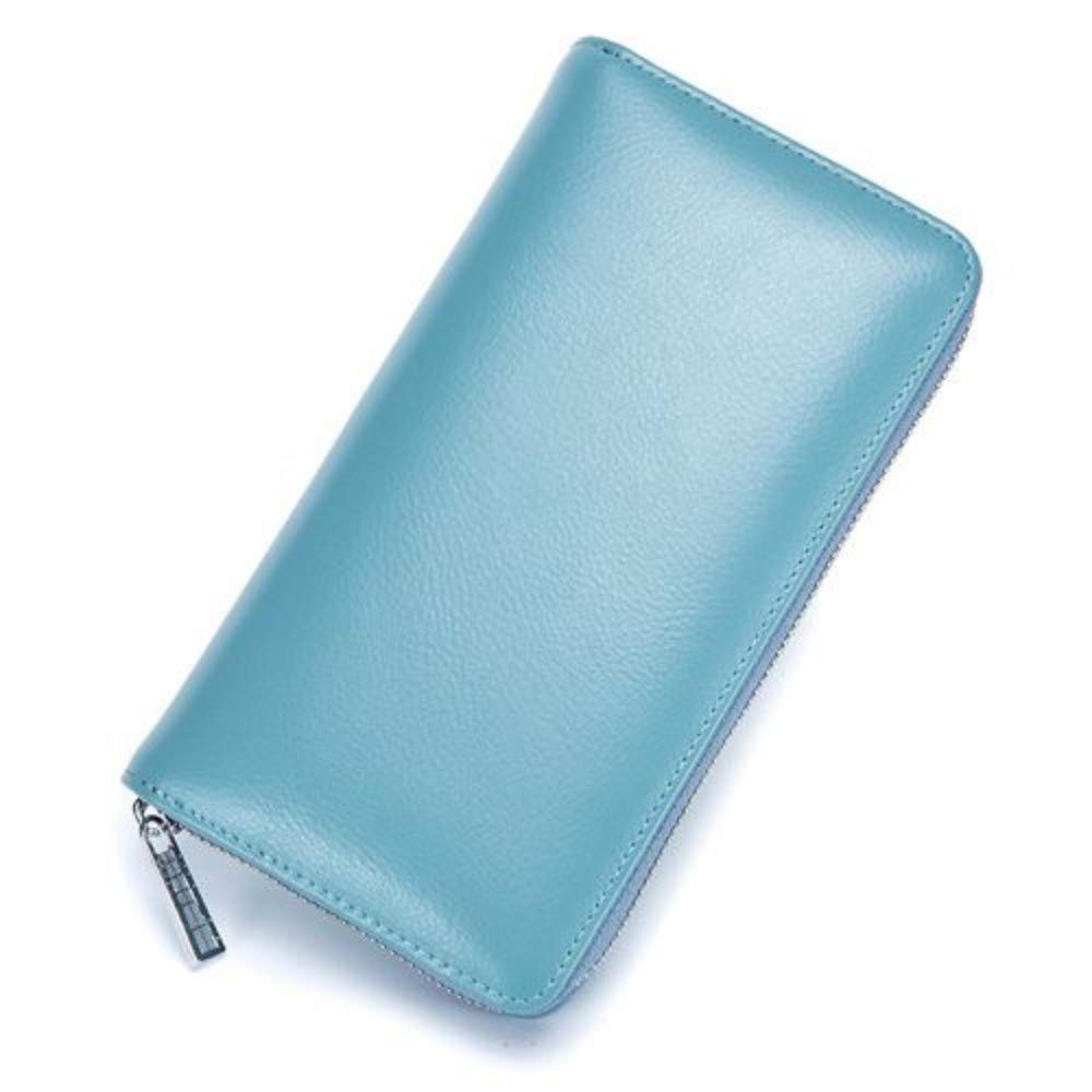 GENGXINLIN Wallet Geldbörse Damen Leder Damen Große Kapazität Reißverschluss Soft Card Inhaber Wristlet Geldbörse Geldbörsen Von Frauen Für Frauen