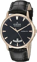 Edox Men's 83015 37R NIR Les Bemonts Analog Display Swiss Automatic Black Watch