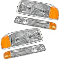 Headlight Headlamp & Corner Parking Lights Set Kit for...