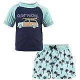 Hudson Baby Unisex Swim Rashguard Set, Surf Car, 2