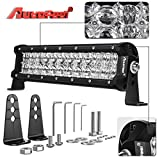 LED Light Bar, Autofeel 12 Inch 72W 5D Lens Spot Flood Combo Beam Off Road Led Light Bar with Adjustable Mounting Bracket for Off Road Jeep ATV AWD SUV 4WD 4x4 Pickup