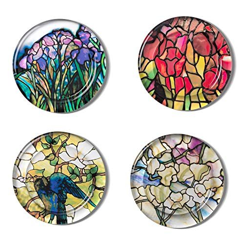 The Metropolitan Museum of Art Stained Glass Design Drink Coasters - Set of 4