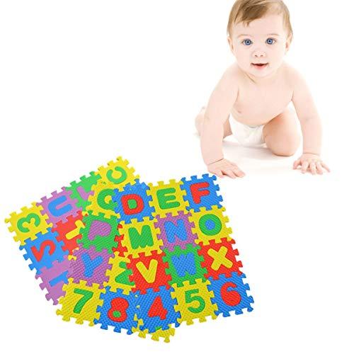 36X Unisex Puzzle Kid Pädagogisches Spielzeug Alphabet Buchstaben Ziffer SchaumW