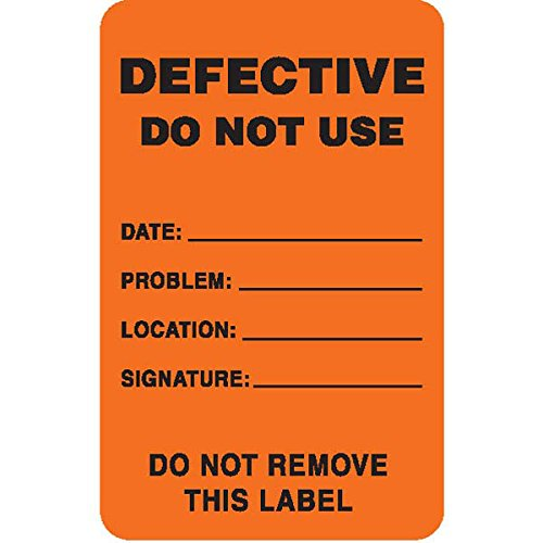 Caution Labels in Blister Packs ''Defective - Do Not Use'' Labels