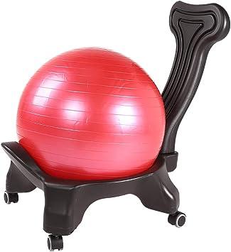 LiZP Silla Bola Yoga Silla ergonómica con Bola del Ejercicio ...