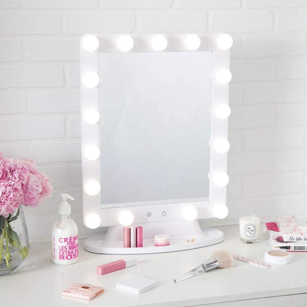 LED Vanity Lights,JoosenHouse Modern Stainless Steel Bathroom Wall Sconce Light Fixtures 560lm Daylight Bath Makeup Mirror Lighting 8W 15.7inch