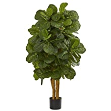 Nearly Natural 4' Fiddle Leaf Fig Artificial Tree Green