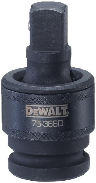 DEWALT DWMT75366B 1//2 DWMT75366OSP 1//2-inch Drive Impact Universal Joint Adapter Socket Accessory
