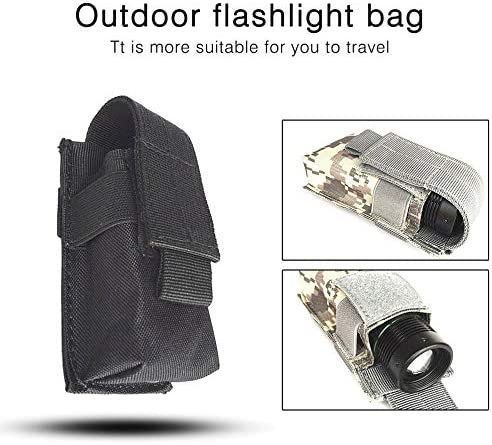 Outdoor Flashlight Bag Waterproof Nylon Case Pouch Portable Pouch Small Waist Bag for Electronic Torch Mini Pack