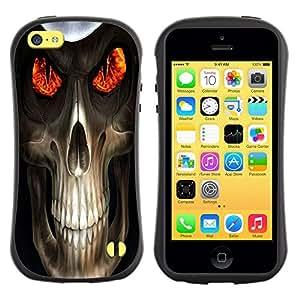 Suave TPU GEL Carcasa Funda Silicona Blando Estuche Caso de protección (para) Apple Iphone 5C / CECELL Phone case / / Evil Skull Death Reaper /