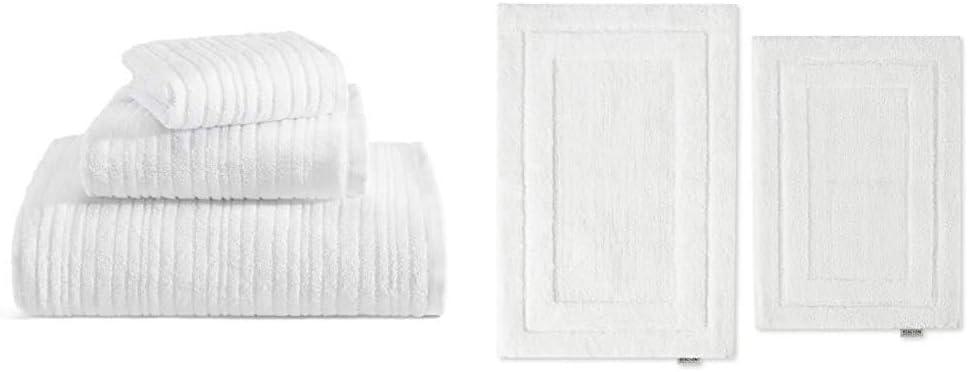 Kenneth Cole Brooks 3-Piece Towel Set & 2-Piece Rug Set